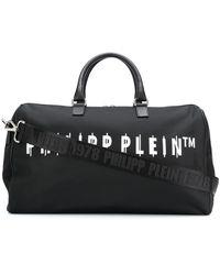 Philipp Plein Bolso de viaje con logo estampado - Negro