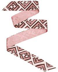 Fendi Шарф С Логотипом - Розовый