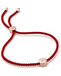 Monica Vinader - Bracelet Linear Solo Friendship en or rose 18ct - Lyst