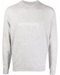 Eleventy スローガン セーター - グレー
