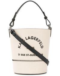 Karl Lagerfeld Bolso bombonera Rue St Guillaume - Multicolor