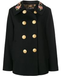 Dolce & Gabbana - Double Breasted Military Coat - Lyst
