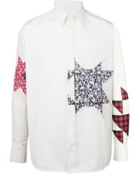 CALVIN KLEIN 205W39NYC - Camisa en patchwork con detalles - Lyst