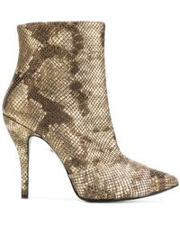 Just Cavalli - Snakeskin Effect Boots - Lyst
