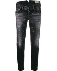 DIESEL Skinny distressed effect jeans - Noir