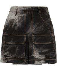 Matthew Adams Dolan Dyed mini skirt - Nero