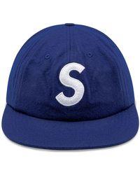 Supreme S Logo 6-panel Cap - Blue