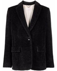 Agnona シングルジャケット - ブラック