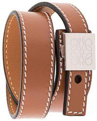 Loewe Wrap Strap Bracelet - Brown