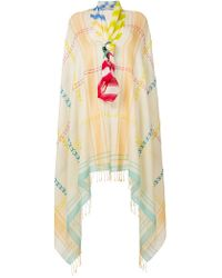 Tsumori Chisato - Oversized Embroidered Detail Scarf - Lyst