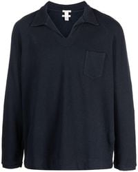 Massimo Alba ロングスリーブ ポロシャツ - ブラック