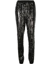 Michael Kors Sequinned Tapered Pants - Black