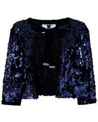 Blumarine - Sequinned Shawl Jacket - Lyst