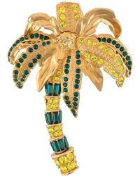 Versace Broche à design de palmier à ornements - Métallisé