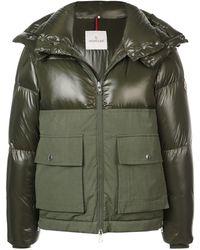 Moncler Paneled Padded Coat