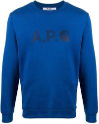 A.P.C. X Carhartt 'ice' スウェットシャツ - ブルー