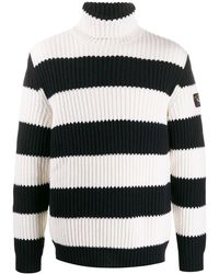 Paul & Shark ケーブルニット セーター - ブラック