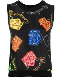 Moschino Top con stampa - Nero