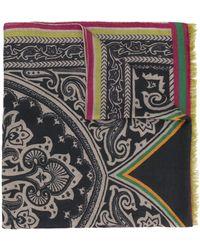Etro Paisley Print Scarf - Серый