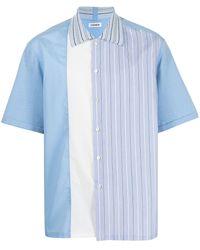 Coohem Stripe-panel Shirt - Blue