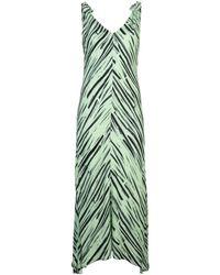PROENZA SCHOULER WHITE LABEL - ブラッシュプリント ドレス - Lyst