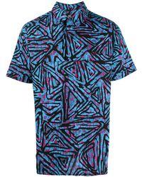 Nike Poloshirt Met Print - Blauw