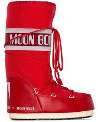 Moon Boot Icon スノーブーツ - レッド
