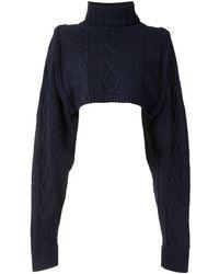 Y's Yohji Yamamoto クロップド セーター - ブルー