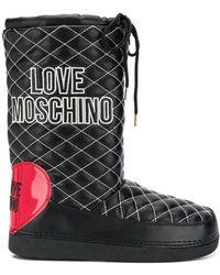 Love Moschino キルティング スノーブーツ - ブラック