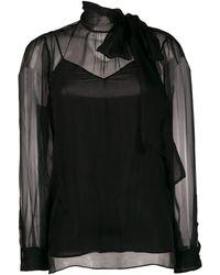 Valentino - Camisa de gasa - Lyst