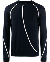 Giorgio Armani クルーネック セーター - ブルー
