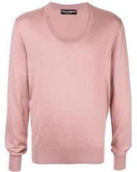 Dolce & Gabbana - Round neck sweater - Lyst