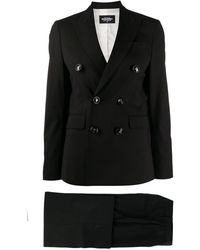 DSquared² Double Breasted Suit - Black