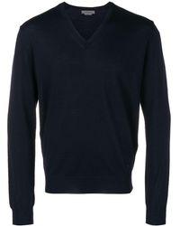 Corneliani V-neck Sweater - ブルー
