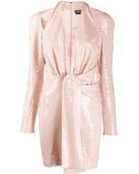 Tom Ford Sequin Cutout Cocktail Dress - Pink