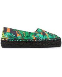 Versace Jeans Couture Jungle Print Espadrilles - Green