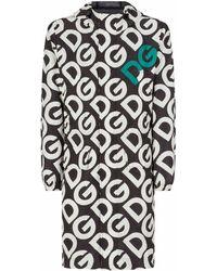 Dolce & Gabbana Dg ロゴ パーカーコート - ブラック