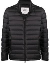 Woolrich パネル パデッドジャケット - ブラック