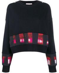 Alexander McQueen パネル スウェットシャツ - ブラック