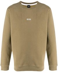 BOSS by Hugo Boss ロゴ スウェットシャツ - ブラウン