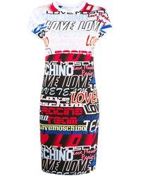 Love Moschino ロゴ Tシャツワンピース - ホワイト