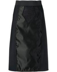 Dolce & Gabbana サテンパネル スカート - ブラック
