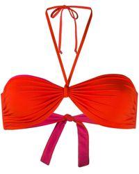 Fisico Haut de bikini à design réversible - Orange