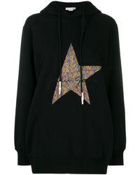 Golden Goose Deluxe Brand Hikaru Oversized Embroidered Cotton-blend Jersey Hoodie - Black