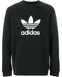 adidas Толстовка ' Originals' С Принтом Логотипа - Черный
