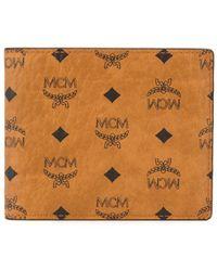 MCM Бумажник С Логотипом - Коричневый