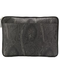 Etro - Paisley Print Laptop Case - Lyst