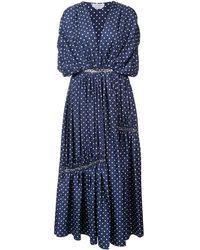 Gabriela Hearst Winston polka dot dress - Blau