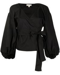MICHAEL Michael Kors Блузка С Запахом И V-образным Вырезом - Черный