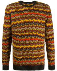 Drumohr ストライプ セーター - イエロー